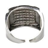 0.50 CT. Horizontal Striped Diamond Ring in 10K White Gold