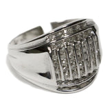 0.50 CT. Vertical Striped Diamond Ring in 10K White Gold