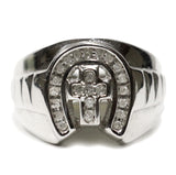 0.35 CT. Cross Diamond Ring in 10K White Gold