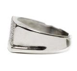 "0.10 CT. ""L"" Border Diamond Ring in 10K White Gold"