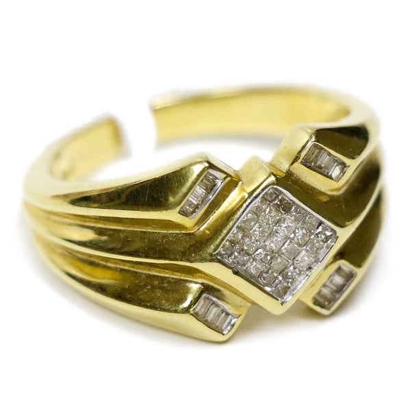0.50 CT. Accented Square Diamond Ring in 14K Gold