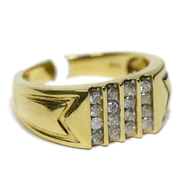 0.50 CT. Four Line Diamond Ring in 14K Gold