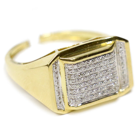 0.45 CT. Pavé Diamond Ring in 10K Gold