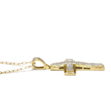 0.35 CT. Cross Diamond Pendant in 10K Gold (Chain Included)