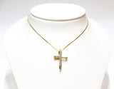 0.25 CT. Looping Cross Diamond Pendant in 14K Gold (Chain Included)