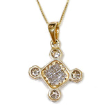 1.0 CT. Diamond Pendant in 14K Gold (Chain Included)