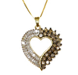 1.0 CT. Diamond Heart Pendant in 10K Gold (Chain Included)