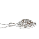 0.50 CT. Classic Heart Diamond Pendant in 14K White Gold (Chain Included)