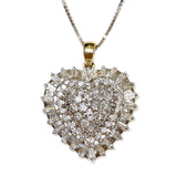 1.00 CT. Heart Diamond Pendant in 14K White Gold (Chain Included)