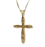 0.25 CT. Ladies Looping Cross Diamond Pendant in 14K Gold (Chain Included)