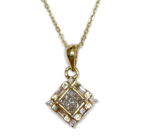 0.35 CT. Ladies Diamond Pendant in 14K Gold (Chain Included)