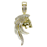 1.22 CT. Roaring Lion Diamond Pendant in 10K Gold