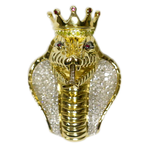 0.86 CT. King Cobra Diamond Pendant in 10K Gold
