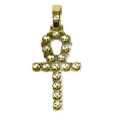 1.33 CT. Ankh Cross Diamond Pendant in 10K Gold