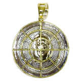 1.02 CT. Jesus Medallion Diamond Pendant in 10K Gold