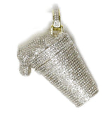 1.79 CT. Paint Bucket Diamond Pendant in 10K Gold