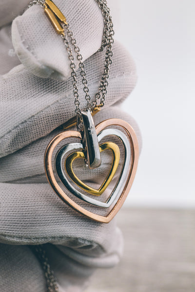 0.35 CT. Hearts in a Heart Diamond Pendant in 14K Gold (Chain Included)