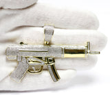 1.64 CT. Machine Gun Diamond Pendant in 10K Gold