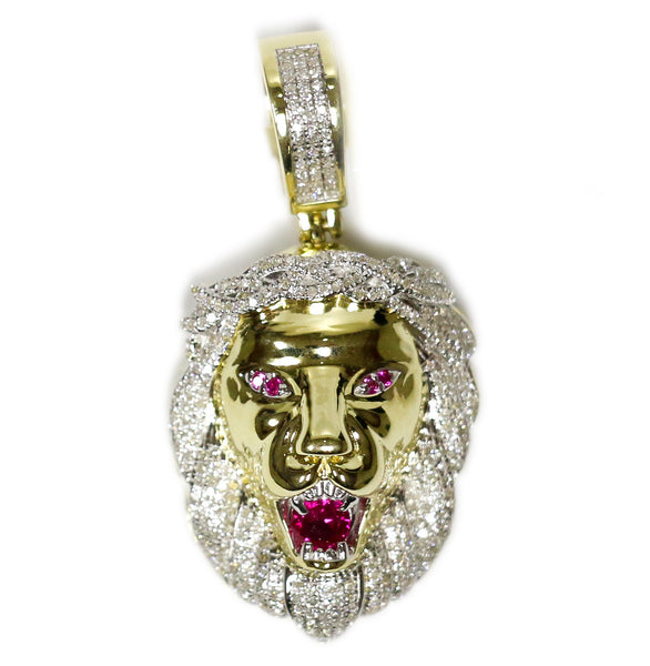 0.50 CT. Roaring Lion Diamond Pendant in 10K Gold