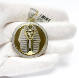 0.93 CT. Pharaoh Medallion Diamond Pendant in 10K Gold