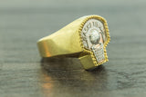Basket Ball Ring in 10K Gold