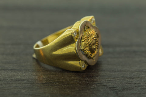 Versace Ring in 10K Gold