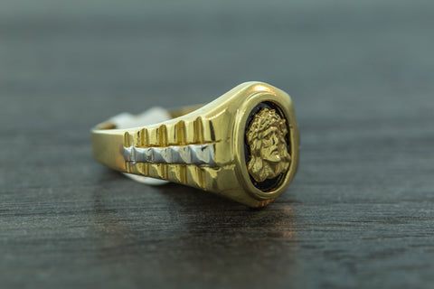 Jesus Ring in 10K Gold
