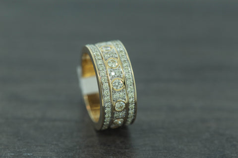 2.36 CT. Diamond Ring in 10K Yellow Gold