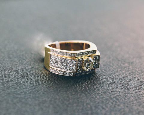 3.63 CT. Diamond Ring in 14K Yellow Gold