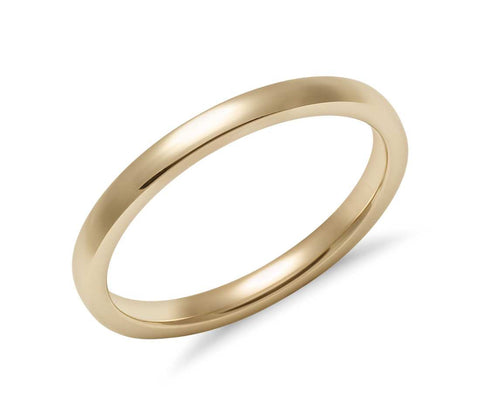 14K Gold Classic Brush Finished Wedding Band - 3mm (Yellow or White Gold)