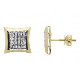 0.33 CT. Diamond Kite Studs in 10K Yellow Gold