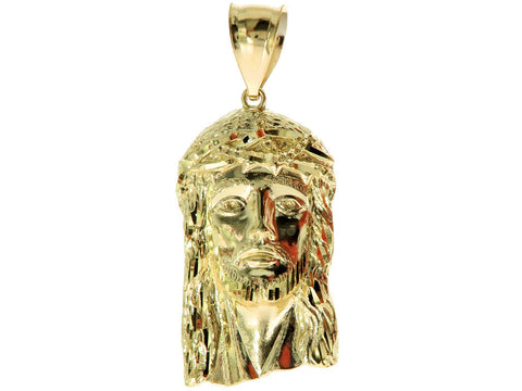 Jesus Pendant in 10K Yellow Gold