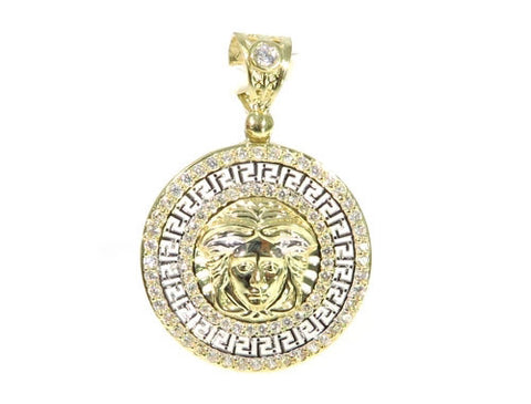 Medusa Pendant in 10K Yellow Gold