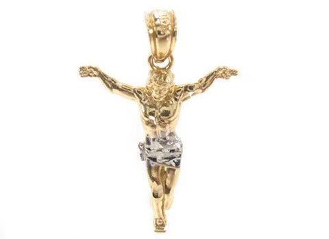 Jesus on the Cross Pendant in 10K Yellow Gold