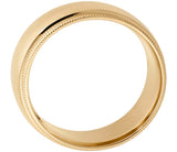 14K Gold Classic Millgrain Wedding Band - 5mm (Yellow or White Gold)
