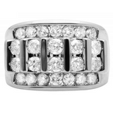 3.0 CT. Channel Set Diamond Wedding Band in 10K White Gold