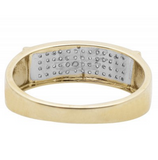 0.33 CT. Four Row Pavé Diamond Comfort Band Ring in 10K Yellow Gold