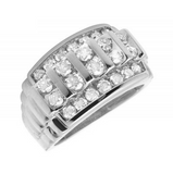 2.0 CT. Channel Set Diamond Wedding Band in 10K White Gold