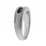 0.50 CT. Matte Rope Irradiated Black Diamonds Band in 10K White Gold