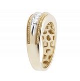 0.50 CT. Milgrain Channel Set Diamond Wedding Band in 10K Yellow Gold
