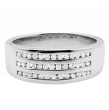 0.40 CT. Diamond Engagement Band in 10K White Gold