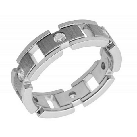 0.50 CT. Diamond Designer Eternity Band in 14K White Gold