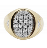 0.33 CT. Diamond Oval Ring in 10K Yellow Gold