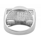 1.0 CT. Diamond Wave Ring in 10K White Gold