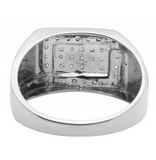 0.33 CT. Overlapping Square Diamond Ring in 10K White Gold