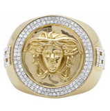 0.75 CT. Diamond Medusa Ring in 10K Yellow Gold