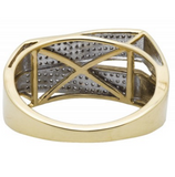 0.50 CT. Double Band Diamond Ring in 10K Yellow Gold