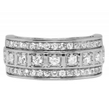 1.50 CT. Diamond Wedding Band in 10K White Gold