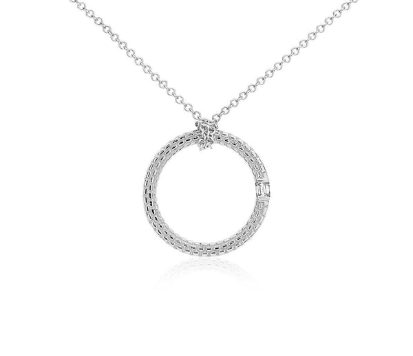 1/10 CT. Brick Pattern Diamond Pendant in 14k White Gold