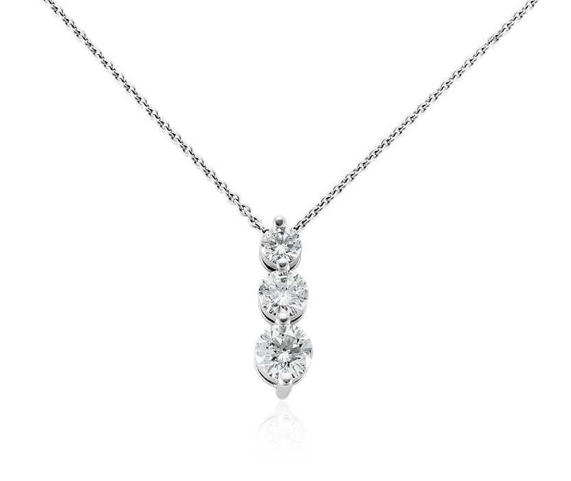 ri three fancy noor necklace diamond necklaces pendant platinum horizontal